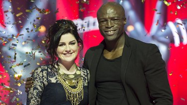 'He's helped me through thick and thin,' Eden says of Seal, her coach on <i>The Voice</i>.