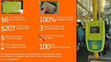 The Public Transport Users Association compares myki vs e-tag.