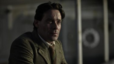 Ellis Ashmead-Bartlett, played by James Callis, observes the Suvla battle from the deck of a ship in the mini series Gallipoli.