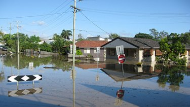The corner of Park Road and Ovendean Street, Yeronga, this morning. Photo: Courtney Trenwith