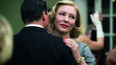 Cate Blanchett says the acceptance of homosexuality remains an issue beyond the 1950s tale of <i>Carol</i>.