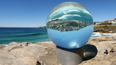 <i>Horizon</i>  by Lucy Humphrey at the <i>Sculpture By The Sea</i> exhibition at Bondi.