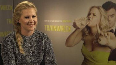 Strong audience: Amy Schumer during her Australian visit to launch <i>Trainwreck</i>.