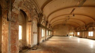 In line for refurbishment: the station's historic ballroom.
