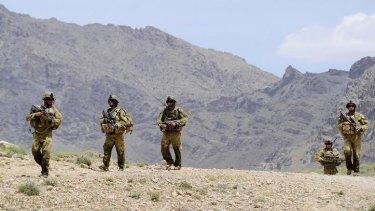 Australian soldiers on patrol in Afghanistan.