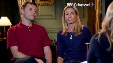 Public appeal: Madeleine McCann's parents, Gerry and Kate McCann, are interviewed on the BBC for a program that will air on Monday night in Britain.