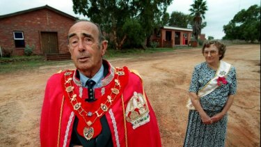 'Prince' Leonard Casley and his wife, 'Princess' Shirley, of the Principality of Hutt River, in the West Australian wheatbelt.