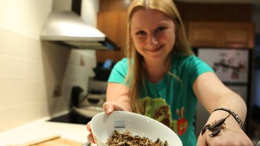 Try and worm your way out of this one ... Skye Blackburn and the ingredients for some of her dishes.