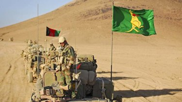 Taking charge ... the Australian Army is now heading the withdrawal of troops from Afghanistan's southern Oruzgan province.