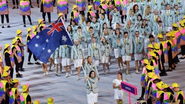 The spectacle of the opening ceremony was followed by disappointment for the Australians.