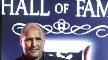 Tony Lockett after he was admitted to the St Kilda Hall of Fame.