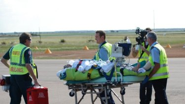 A man attacked by a great white off Esperance is flown to Perth.