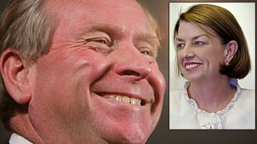 GST gloves come off ... NSW lashes out at the government's of WA's Colin Barnett and Queensland's Anna Bligh.