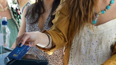 Visa says the share of face-to-face transactions that are contactless has risen to 92 per cent.