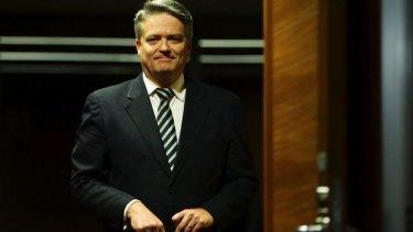 Finance Minister Mathias Cormann: Borrowing lines from Arnold Schwarzenegger.