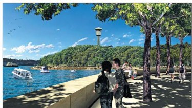An artist's impression of how Barangaroo's Headland Park should look.