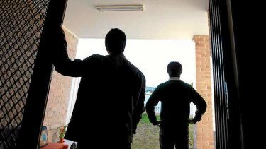 At home: Two under-age asylum seekers.