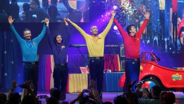 Anthony Field, Jeff Fatt, Greg Page and Murray Cook perform together for the last time before heading off in their Big Red Car at the Sydney Entertainment Centre.