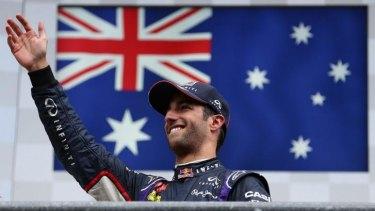 Third win of the season: Australia's Daniel Ricciardo.