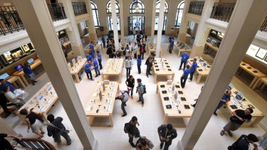 Robbed ... the Apple store near the Opera Garnier in Paris.