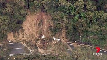 A major landslide on the Great Ocean Road last week.