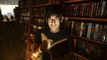 Change agent: Aaron Swartz in a bookstore in San Francisco in 2008.