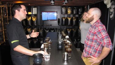 Dan Nancarrow tries Australia's most expensive coffee at Fortitude Valley's Campos Coffee in Brisbane.