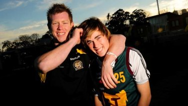 Dynasty in the making: Richmond's Jack Riewoldt with younger brother Charlie.