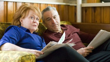 Robert De Niro and Jacki Weaver in Silver Linings Playbook.