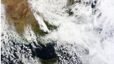 Storm view from space.
