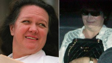 Iron ladies ... Gina Rinehart, left, and Angela Bennett. Ms Rinehart will lose 25 per cent of her Rhodes Ridge tenements.