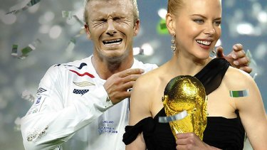 Going head to head ... David Beckham and Nicole Kidman.