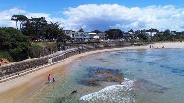 The sands of Point Lonsdale front beach have eroded over time.