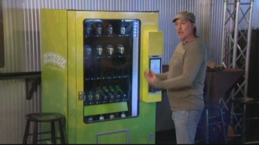 The Zazzz vending machine lets legally aged consumers buy marijuana products, including edibles and pre-rolled joints, using cash, Bitcoin or a special Zazzz card.