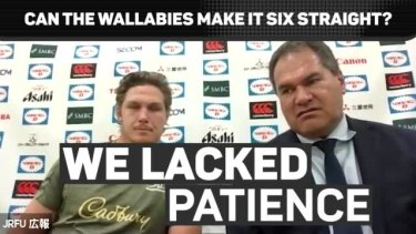@wallabies coach Dave Rennie has lablled his side 'rusty' and 'frustrating' after their unconvincing win over @JRFURugby.