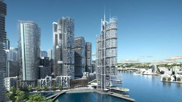 My how you've grown ...  the latest concept plan for Barangaroo, which includes much taller towers and a smaller promenade.