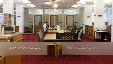 The RG Neale Reading Room at the National Archives.