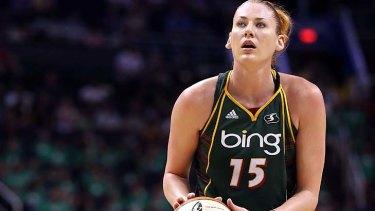 Lauren Jackson of the Seattle Stormin action during the WNBA game against the Phoenix Mercury in Phoenix, Arizona.