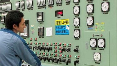 Heroes ...  a worker at the Fukushima Daiichi plant  pictured last year.