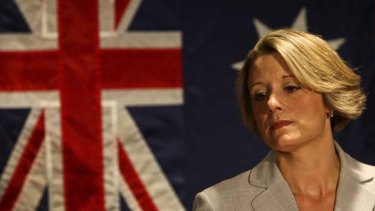 Under fire ... NSW Premier Kristina Keneally faces a barrage of questions from the press yesterday afternoon.