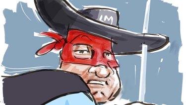 The scarlet pimpernel of funds management ... Peter Drake. <i>Illustration: michaelmucci.com</i>