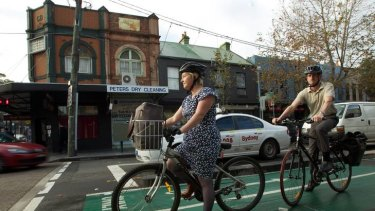 Widespread confusion ... Susan Goodwin says the downside to the cycleways is riders aren't always able to trigger the traffic lights.