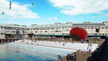 An artist's impression of the new waterfront square.