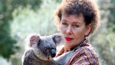 Australian Koala Foundation chief executive Deborah Tabart at the Lone Pine Koala Sanctuary.