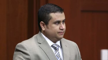 George Zimmerman enters the courtroom for his trial in Seminole County circuit court in Sanford, Florida.