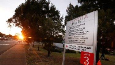 The sun rises on the last day at Toyota's Altona plant.