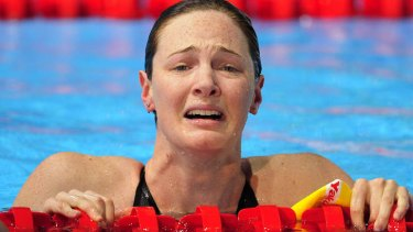 Tears of joy: Cate Campbell.