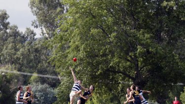 NAB Challenge match between the Richmond and Geelong at Yea Recreational Reserve.