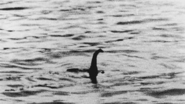 The famous 'Surgeon's Photograph' Loch Ness monster hoax picture from 1943.