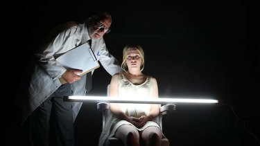 Dangerous liaison: Harriet Dyer, with Robert Alexander, stars as a young woman fighting against tradition in <i>Machinal</i>.